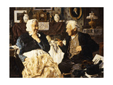 Tea and Conversation Giclee Print by Louis Charles Moeller