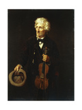 Man with Violin, 1879 Giclee Print by John George Brown