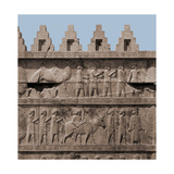 A Detail of the Reliefs on the Stairways Leading to the Audience Hall of Darius and Xerxes Giclee Print