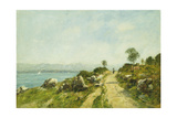 The Road, Antibes; Antibes, La Route, 1893 Giclee Print by Eugène Boudin