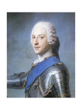 Portrait of Prince Charles Edward Stuart, Bust Length, in Profile to the Left, His Head Turned to… Giclee Print by Maurice Quentin de La Tour