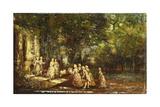 A Visit to the Princess; Visite a La Princesse, C.1860 Giclee Print by Adolphe Joseph Thomas Monticelli