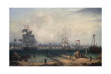 View of Liverpool, from Cheshire, 1835 Giclee Print by Robert Salmon