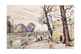 Quai De Seine Giclee Print by Paul Signac