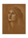 Head of a Woman, 1890 Giclee Print by Sir Edward Coley Burne-Jones
