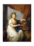 Portrait of Countess Catherine Skavronska, Seated Three-Quarter Length, in Neo-Classical Dress,… Giclee Print by Angelica Kauffmann