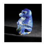 Faience Figure of a Seated Baboon Giclee Print