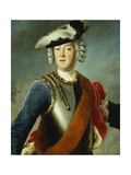 Portrait of a Gentleman, Said to Be August William, Half Length, Wearing a Blue Jacket, White… Giclee Print by Antoine Pesne