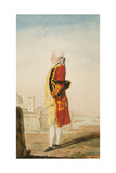 Colonel Morrison Possibly in the Uniform of the Royal Engineers, a Fortified Town Behind, 1768 Giclee Print by  Carmontelle