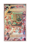 "A 16th Century Illustration of a 14th Century Persian Story ""The History of the Mongols"" Giclee Print"