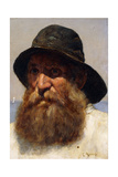 Portrait of a Fisherman, C.1895 Giclee Print by Edwin Harris