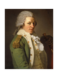 Portrait of the Artist, Half Length, Wearing a Green Jacket and Holding a Cane Giclee Print by Joseph Ducreux
