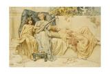 A Lullaby, 1894 Giclee Print by N. Prescott-Davies