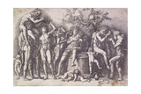A Bacchanal with a Wine-Press, C. 1475 Giclee Print by Andrea Mantegna