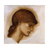 Study of a Lady's Head Giclee Print by Sir Edward Coley Burne-Jones