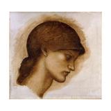 Study of a Lady's Head Giclee Print by Sir Edward Coley Burne-Jones