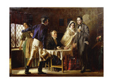 A Wedding at Gretna Green, 1859 Giclee Print by Jerry Barrett
