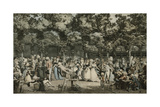 The Public Promenade; Le Promenade Publique, 1792 Giclee Print by Philibert-Louis Debucourt