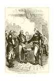 Washington Taking Leave of His Old Comrades Giclee Print