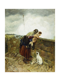 Watching the Steam Train, 1880 Giclee Print by Henry Robert Robertson