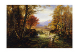 Changing Pastures, Evening Giclee Print by Joseph Farquharson