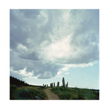 Burial Site with Stones Forming the Shape of a Ship Giclee Print