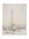 Tanka Boats on the Shore Giclee Print by George Chinnery