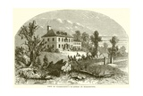 View of Washington's Quarters at Morristown Giclee Print