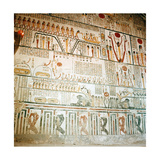 A Detail of the Painting of the 6th Section of the Book of Caverns on the Wall of the Sarcophagus… Giclee Print