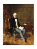 Portrait of Henry Pelham-Clinton, K.G., 4th Duke of Newcastle, Holding a Document, in His Study,… Giclee Print by Henry Nelson O'Neil
