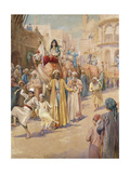 An Arab Wedding Procession Through Cairo Giclee Print by James Shaw Crompton