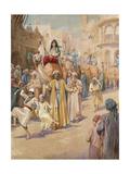 An Arab Wedding Procession Through Cairo Giclee Print by James Shaw Crompton