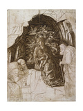 The Adoration of the Magi: the Virgin in the Grotto, C.1475-80 Giclee Print by Andrea Mantegna