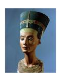The Crowned Head of Nefertiti, Wife of Akhenaton Giclée-tryk