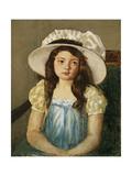 Francoise Wearing a Big White Hat Giclee Print by Mary Stevenson Cassatt