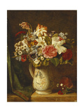 Roses, Narcissi and Other Flowers in a Vase Giclee Print by Alfred Morgan