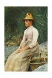 The Mussel Girl Giclee Print by Edwin Harris