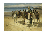 On the Sands, Morecombe Giclée-tryk af William Woodhouse