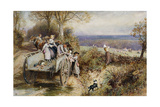 A Peep at the Hounds: 'Here They Come' Giclee Print by Myles Birket Foster