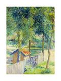 In the Garden; Dans Le Jardin, 1899 Gicléetryck av Hippolyte Petitjean