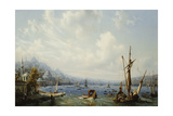 Boats on the Bosphorous, Off Constantinople, 1846 Giclee Print by Auguste Etienne Francois Mayer