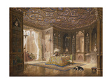 The Library of Stanmore Hall, the Seat of Robert Holland, Esq Giclee Print by Frederick Mackenzie