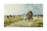 A Future Derby Winner on the Downs Near Marlborough Giclee Print by George Wright
