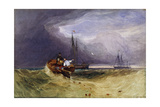 Fishing Boats Off Yarmouth, 1832 Giclee Print by John Sell Cotman
