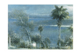 Moonlight at Port Antonio, Jamaica Giclee Print by Albert Goodwin