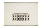 Soho House: Plan of the Ground Storey; Plan of the Bedchamber Storey; Elevation of the South… Giclee Print by James Wyatt