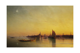 Venice from the Lagoon at Sunset, 1873 Giclee Print by Ivan Konstantinovich Aivazovsky
