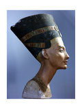 The Crowned Head of Nefertiti, Wife of Akhenaton Giclee Print