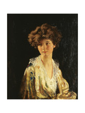 Portrait of Lady Evelyn Herbert, Half Length Giclee Print by Sir William Orpen