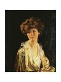 Portrait of Lady Evelyn Herbert, Half Length Gicleetryck av Sir William Orpen